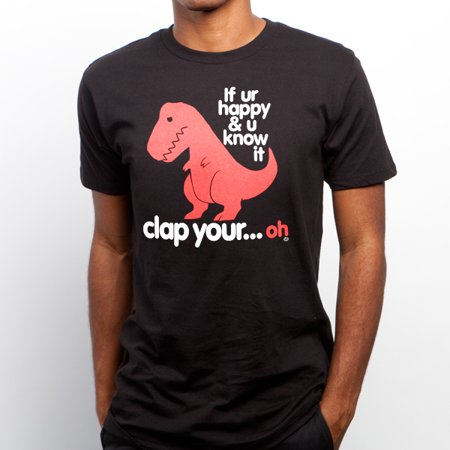 sad t rex clap your oh t-shirt tyrannosaurus hands happy know it dino funny (Clap Hands Here Comes Charlie Short Story)
