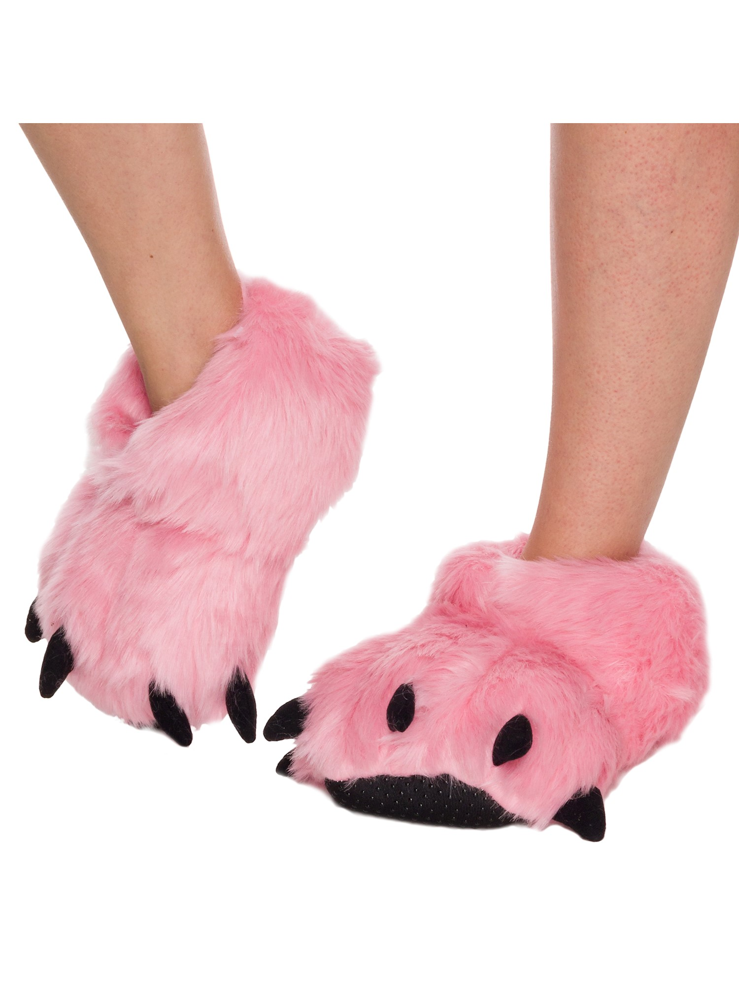 SILVER LILLY NEW Bear Paw Plush Animal Halloween Costume Slippers