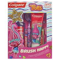 Colgate Kids Toothbrush, Toothpaste, and Mouthwash Set, Trolls