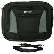 Acer Aspire One D270 Laptop Case Carry Handle & Adjustable Shoulder Strap - Black/Gray - Adjustable & Removable Interior Divider