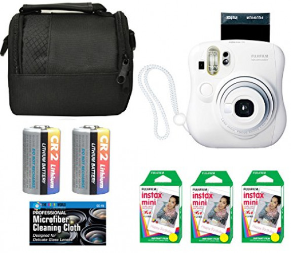 Fujifilm Instax Mini Instant Film Bundle with Microfiber Cleaning Cloth 3-Pack