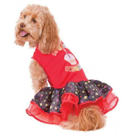 Barkday Pet Happy Birthday Tutu Dress Girl Dog Puppy Costume