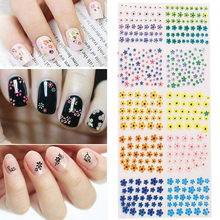50 Sheets Nail Art Design Water Transfer Nails Sticker Floer Nails