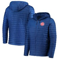 Detroit Pistons G-III Sports by Carl Banks Equator Quilted Performance Full Zip Jacket - Blue