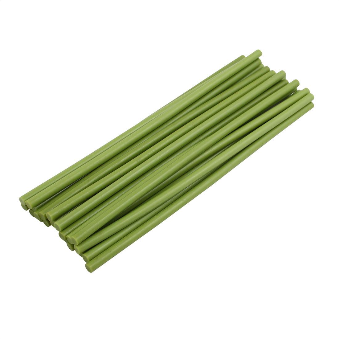 25 Pcs Light Green 7mm Dia Soldering Iron Hot Melt Glue Stick 253mm Length