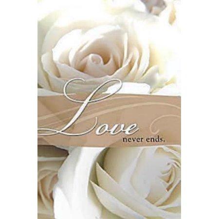 Love Never Ends Wedding Bulletin (Pkg of 50) (Other)](Wedding Bulletins)
