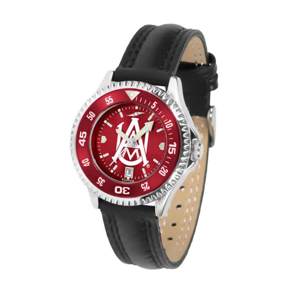 "Alabama A&M Bulldogs NCAA Anochrome ""Competitor"" Women's Watch (Poly/Leather Band)"