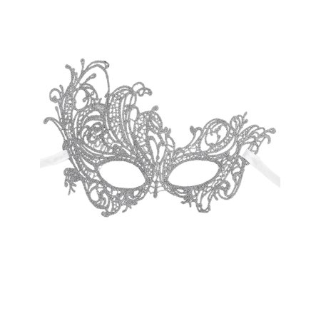 Women's Mythical Goddess Lace Phoenix Masquerade Mask, Silver_Phoenix - Lace Cat Mask