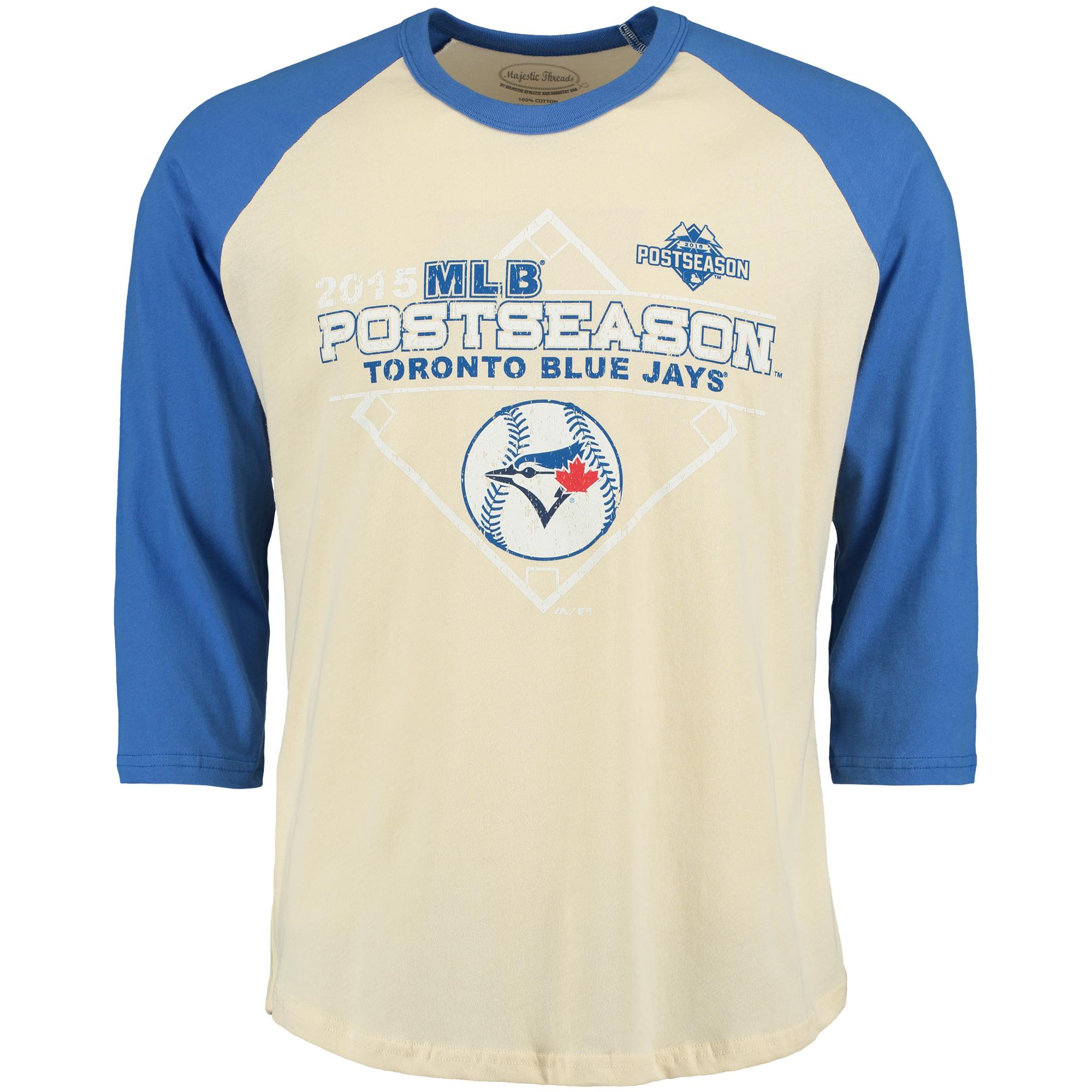 Toronto Blue Jays Majestic Threads 2015 Postseason Premium Raglan T-Shirt