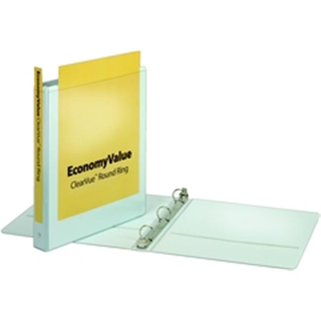 Cardinal EconomyValue ClearVue Round Ring Binder 1 in w Packaging