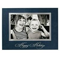 Traditional Happy Holidays Photo Christmas Card
