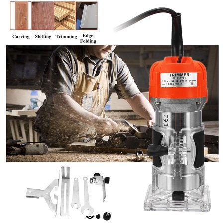 220V 800W 1/4'' 30000RPM Electric Hand Trimmer Router Edge Wood Laminate Palm Router Joiners Tool Woodworking