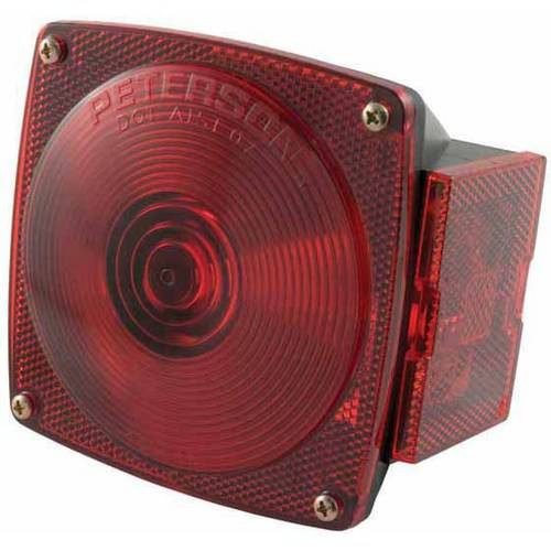 Curt Manufacturing Cur53440 Red Combination Light with Out License Illuminator, Right Side