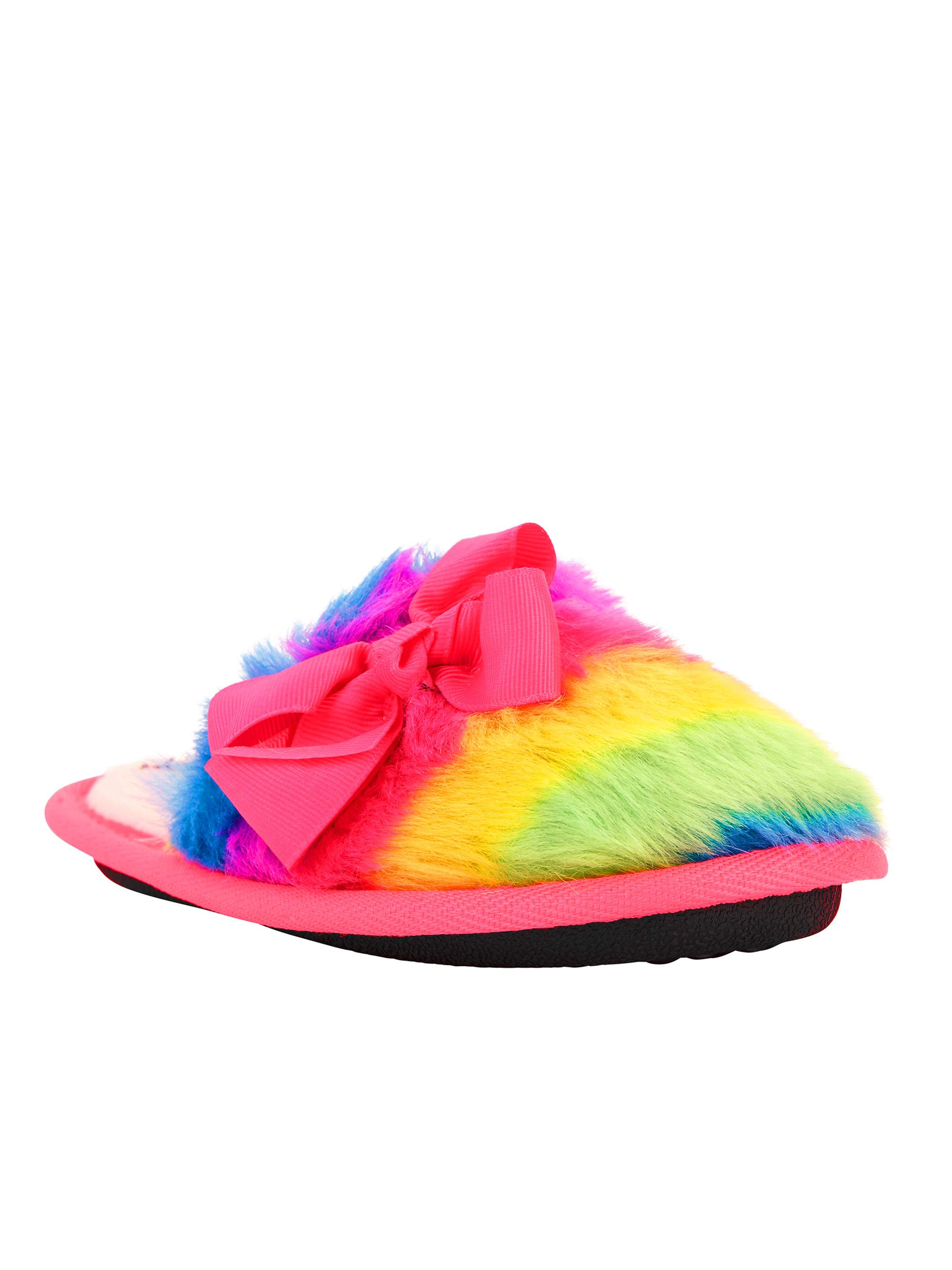 Jojo Siwa Rainbow Fluffy Scuff Slippers
