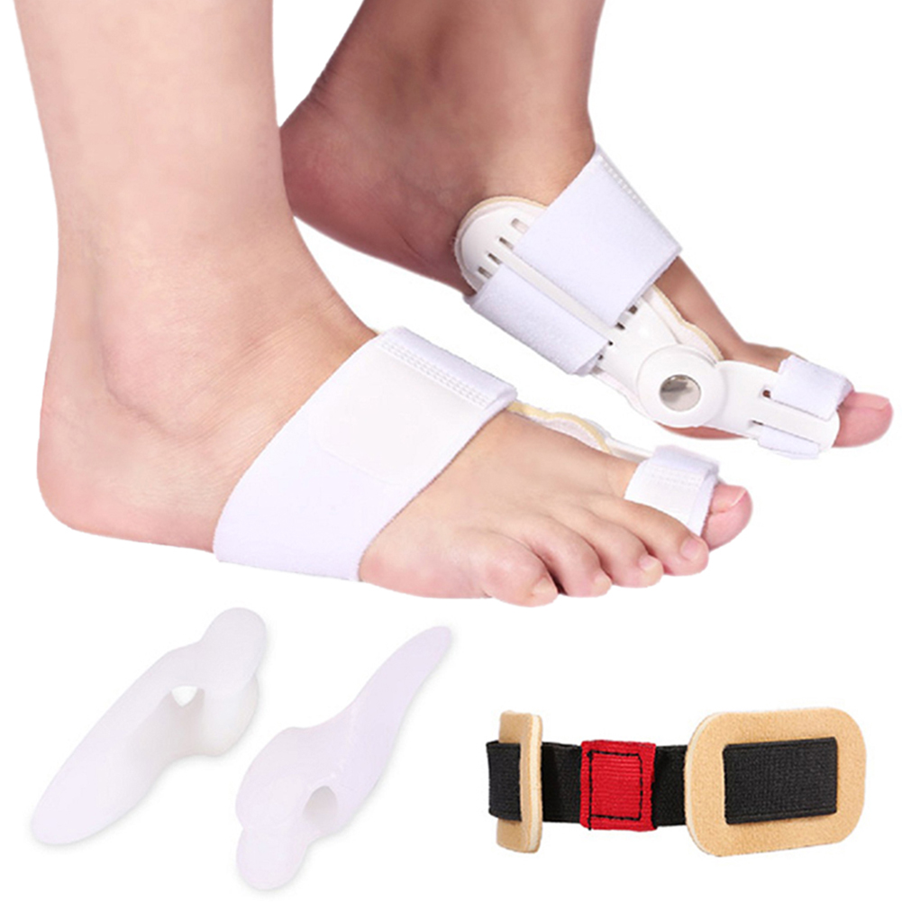 WALFRONT 5Pcs/Set Bunion Corrector Protector & Bunion Splint, Women Men Straightener Orthotic Toe Spacer Pain Relief Corrector