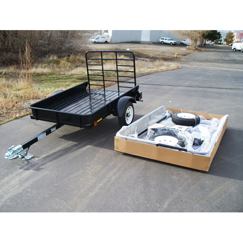 UtilityMate 4' x 6' EZ-Open Trailer, Black