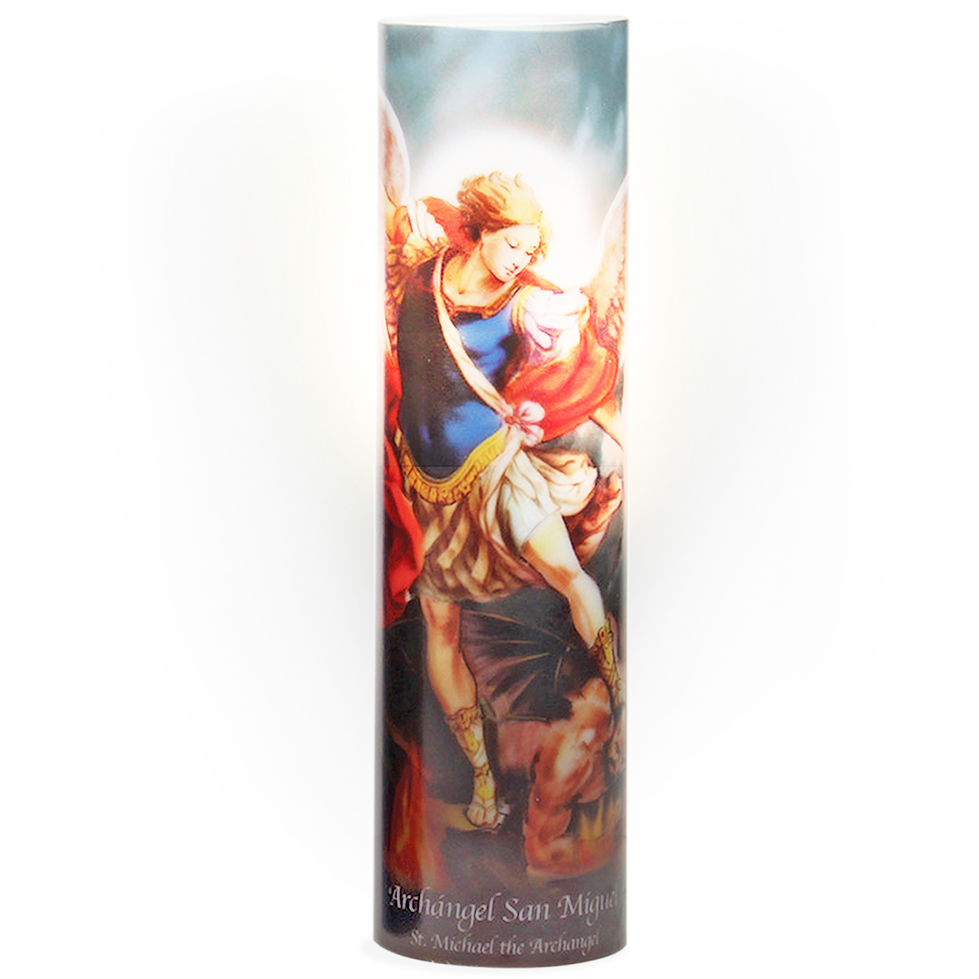 LED Prayer Candle, St. Michael