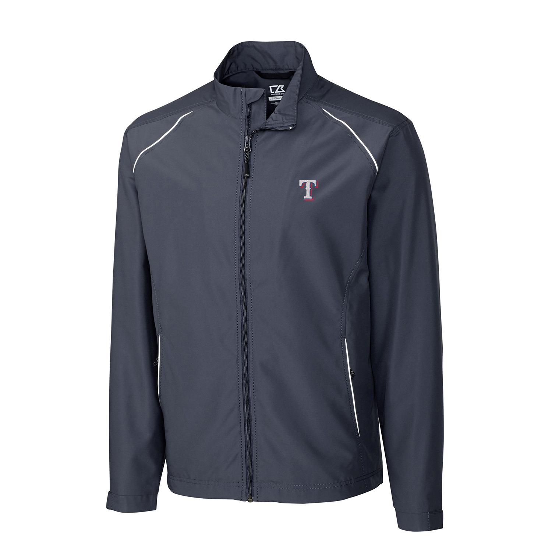 Texas Rangers Cutter & Buck Beacon WeatherTec Full-Zip Jacket - Charcoal