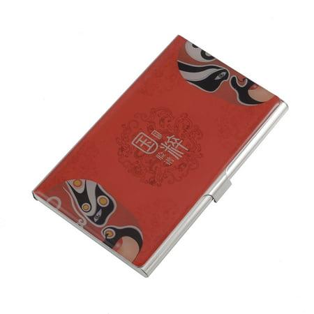Unique Bargains Peking Opera Mask Dragon Pattern Horizontal Credit Name ID Card Holder Box