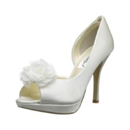 Coloriffics 845117064497 6390IV Danica DOrsay Pump With Peep Toe And Flower Ivory Size 7. 5 by Coloriffics