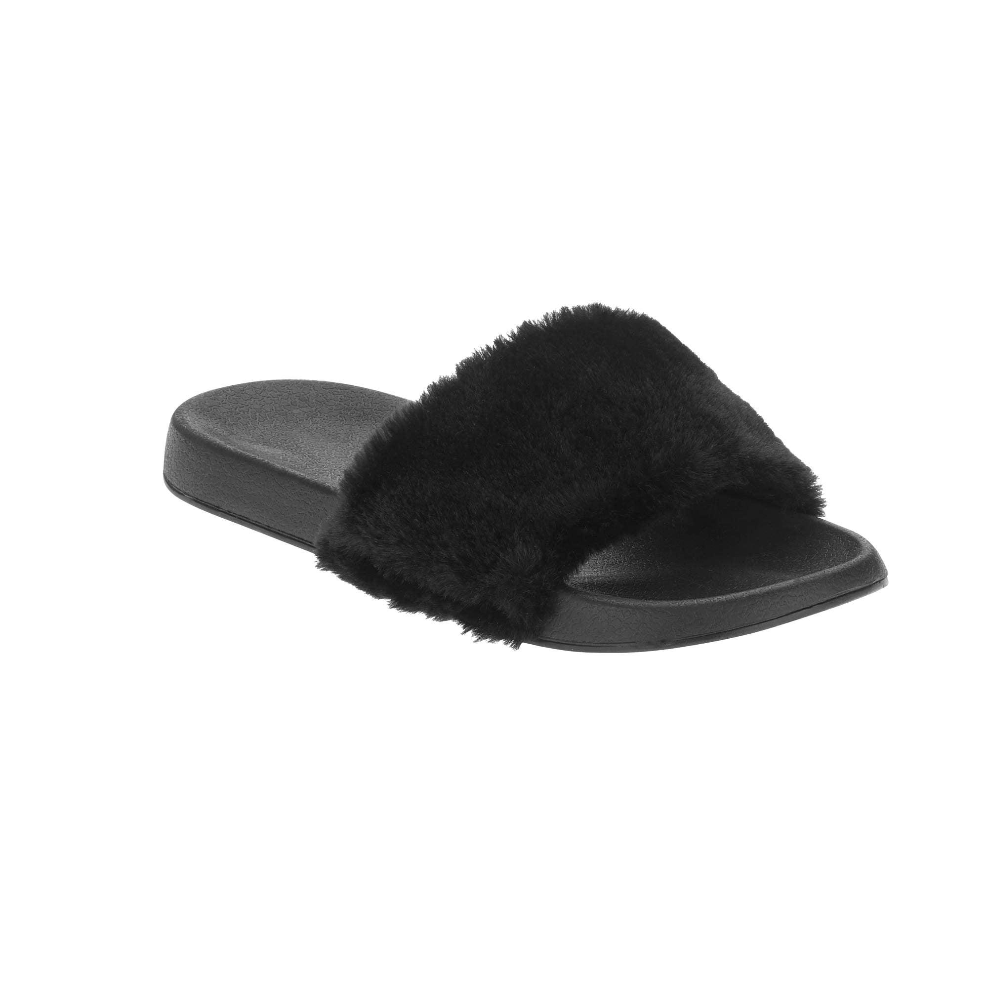 Women's Fur Slide - Walmart.com