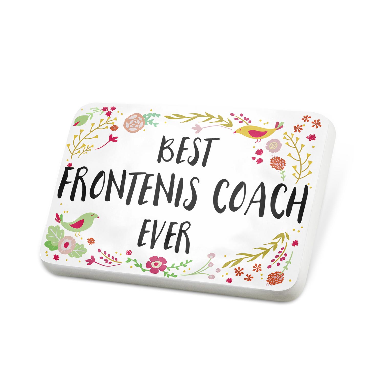 Porcelein Pin Happy Floral Border Frontenis Coach Lapel Badge – NEONBLOND
