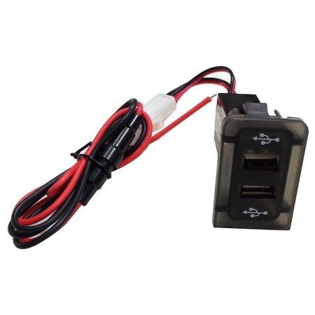 Tuscom MK4 IN DASH DASHBOARD PANEL DUAL USB PORT CHARGER POWER