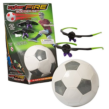 Cyberfire - Glow In The Dark Sports Ball - Indoor / Outdoor Sports Ball With LED Line Of Sight Technology Glasses ( Soccer
