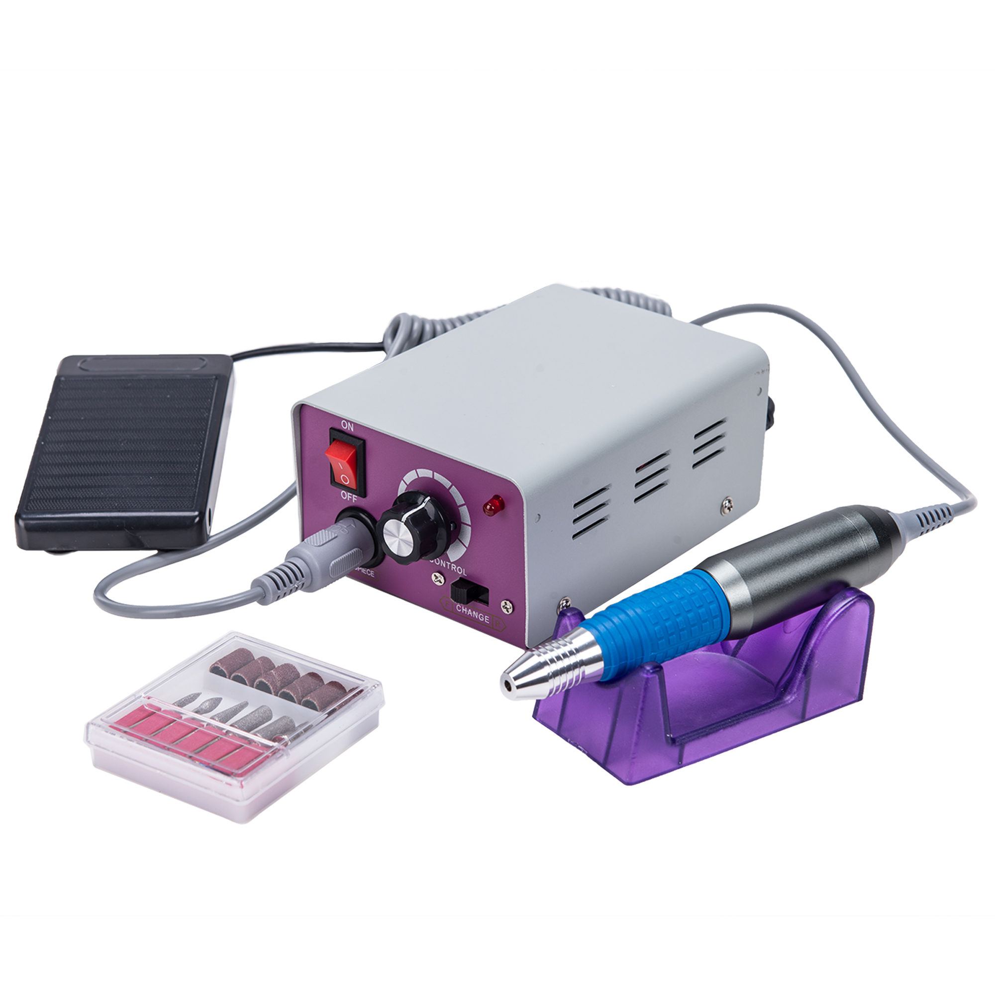 Professional Electric Nail Drill Machine Kit 25,000 RPM for Acrylic Nails Manicure Pedicure