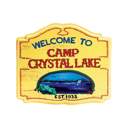 Friday The 13th Welcome To Camp Crystal Lake Hang Up Sign Decoration