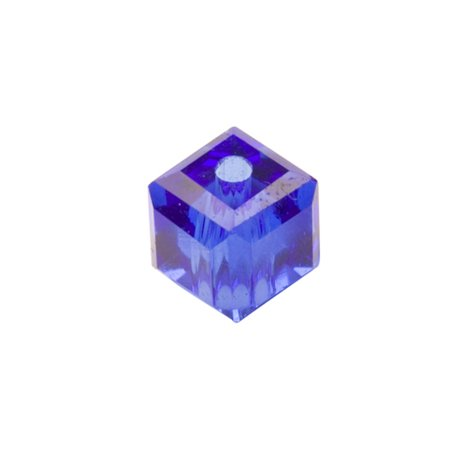 Cobalt Blue Cube Crystal Beads 4mm, 90 Beads / string of 16 inchs ()