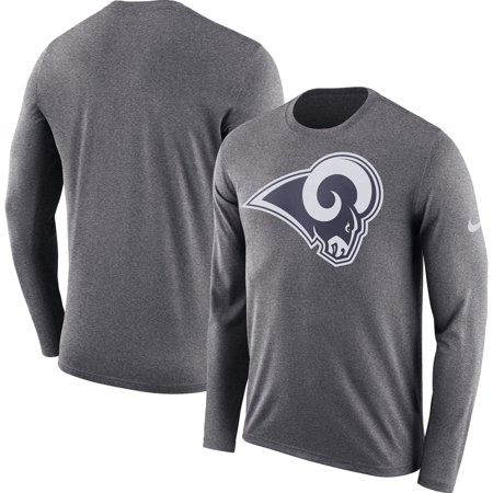 Los Angeles Rams Nike Fan Gear Primary Logo Long Sleeve Performance T-Shirt - Heathered