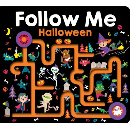 Maze Book: Follow Me Halloween (Large) (Board Book)