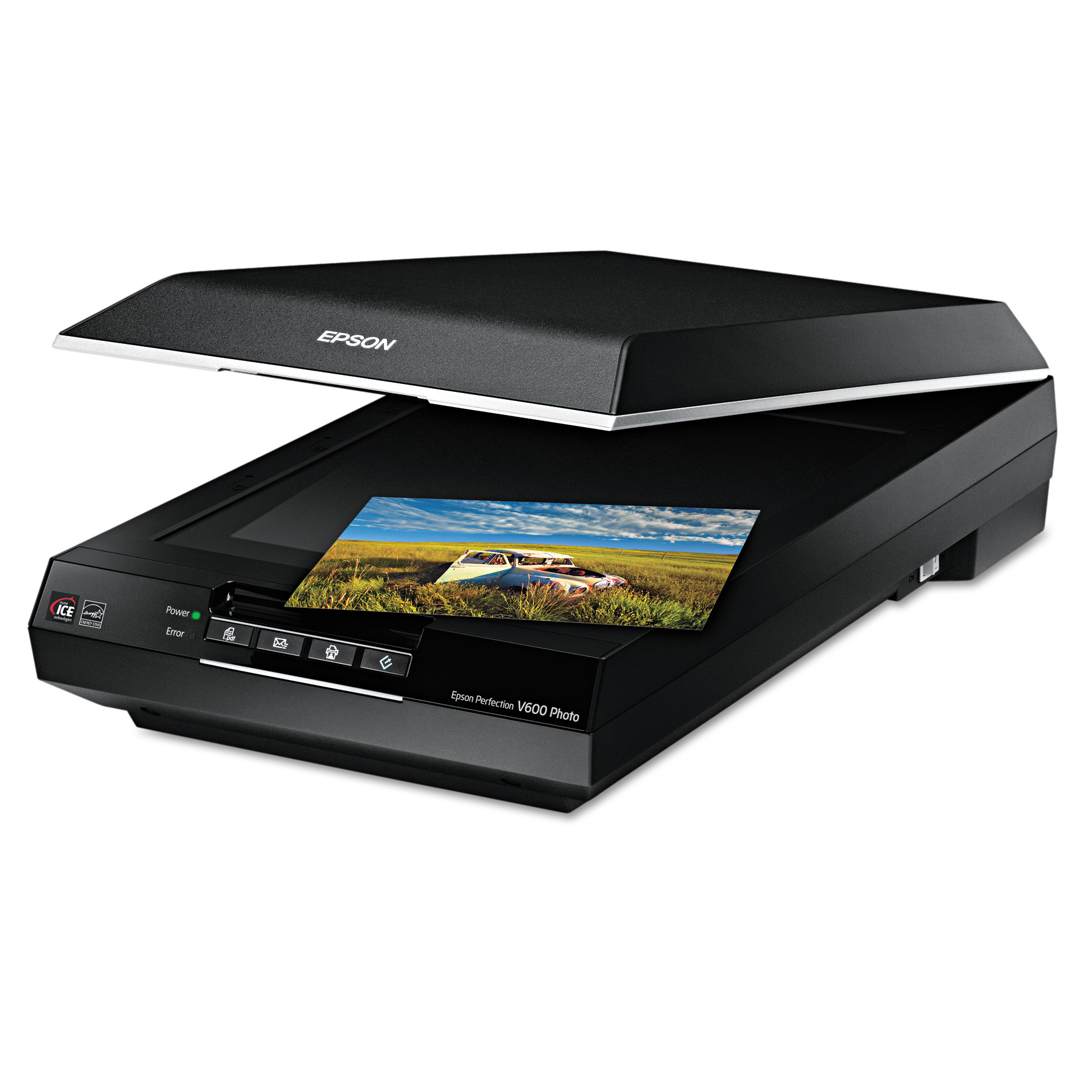 Epson Perfection V600 Photo Color Scanner, 6400 x 9600 dpi, Black
