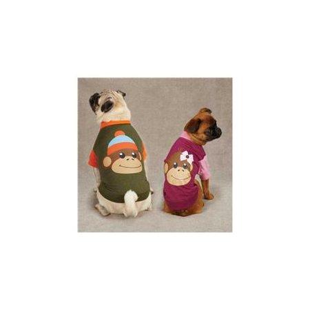 - East Side Collection Monkey Business Raglan Dog Tee Shirt TIFF RASPBERRY LARGE