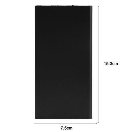6720t Mobile Thin - 20000mah Double USB Ultra Thin Portable External Battery C harger P ower bank for Mobile Cell Phone iPhone Black