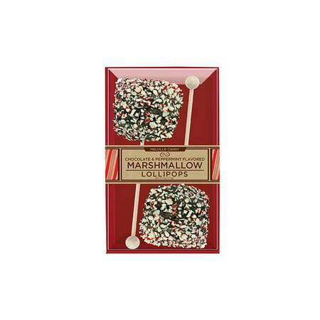 Giant Marshmallow Dark Chocolate Peppermint Lollipops 2 Pack, 3 Count (Giant Lollipop)