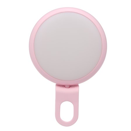 Makeup LED Selfie Ring Light with 360° Rotary Clip Mini Selfie Camera Light Adjustable Brightness Colorful Atmosphere Lamp