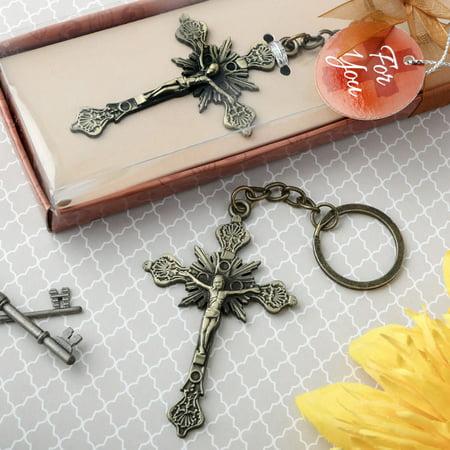 60 Jesus on the Cross design key chain](Cross Key Chains)