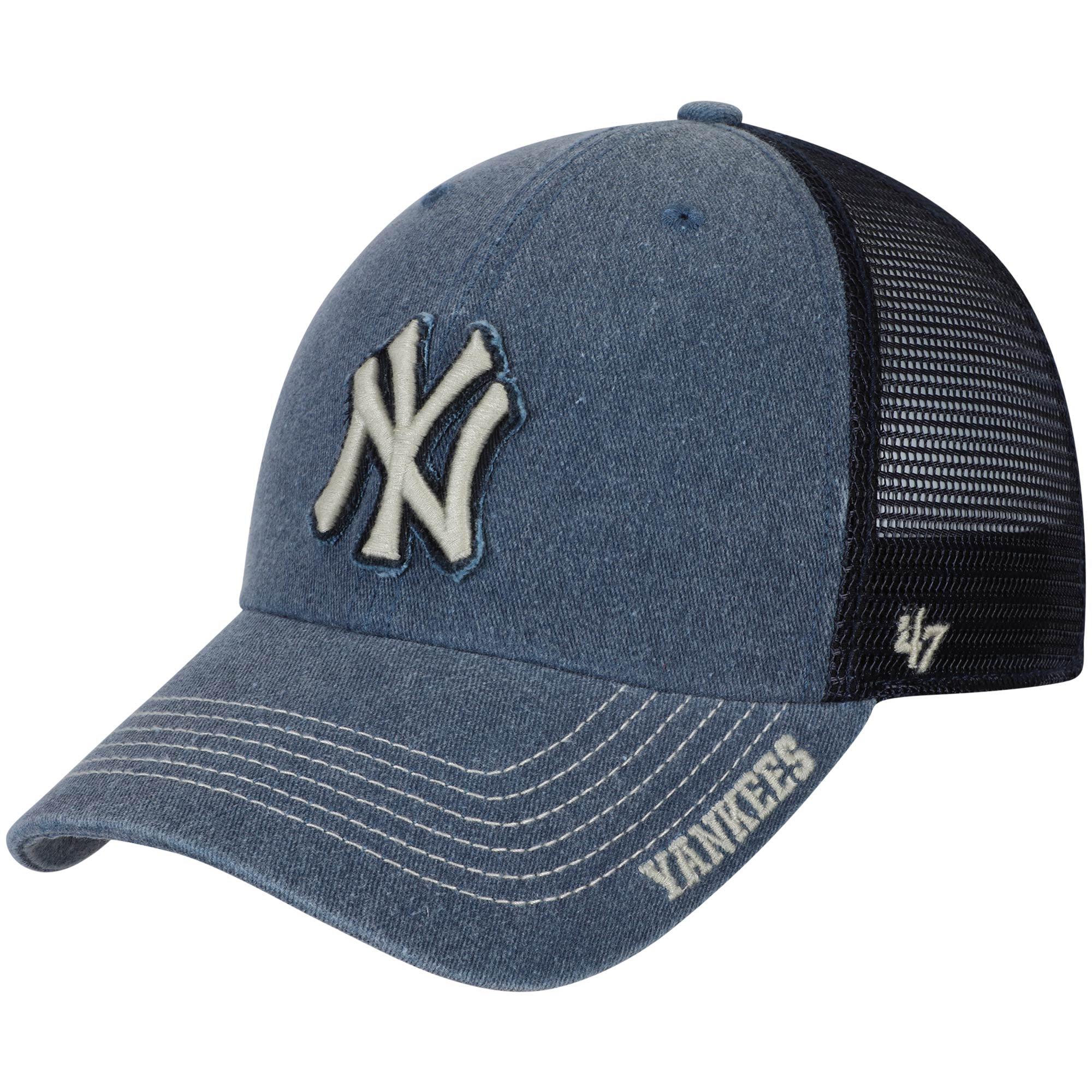 New York Yankees '47 Burnstead Clean Up Trucker Adjustable Hat - Navy - OSFA
