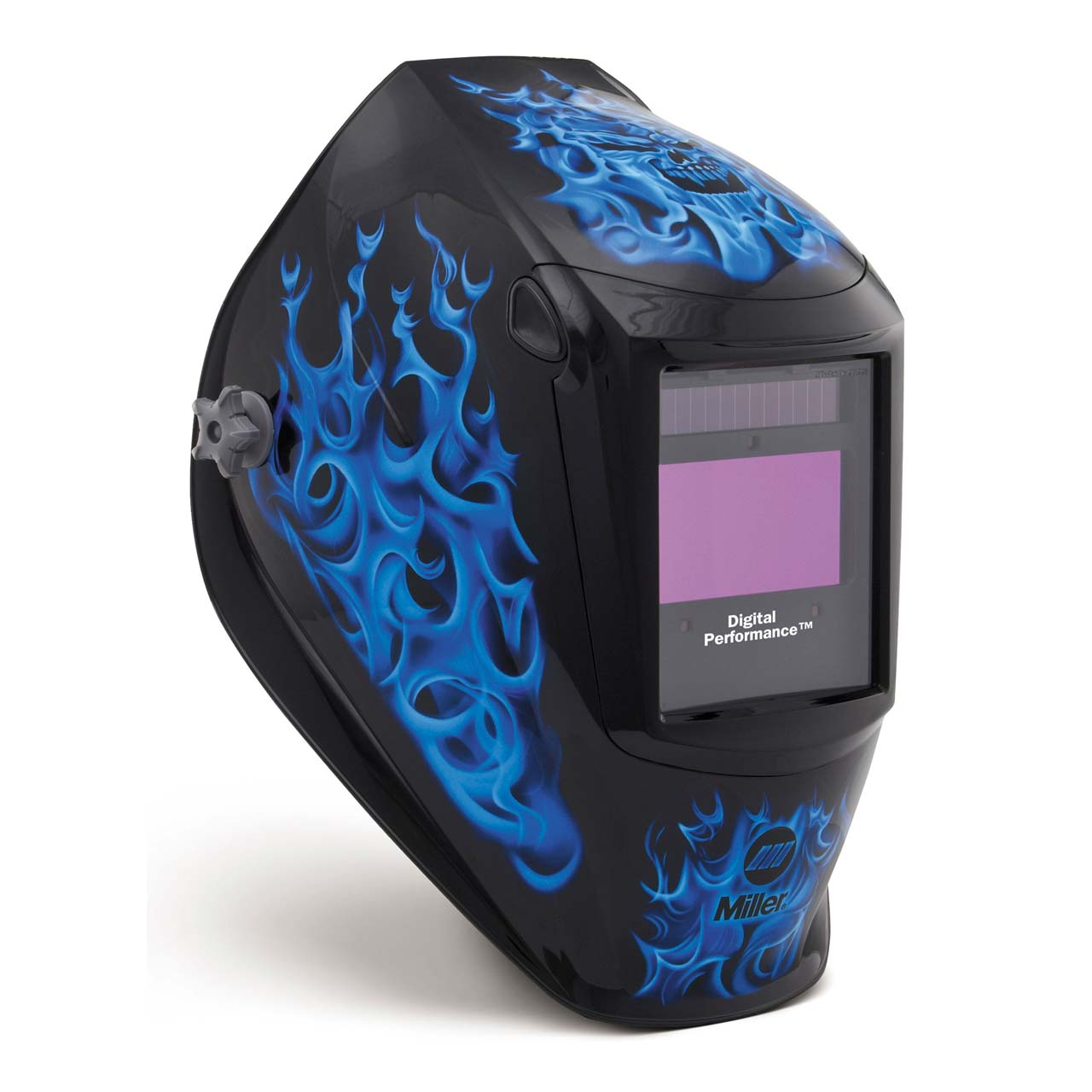 Miller 282001 Digital Performance Welding Helmet with ClearLight Lens, Blue Rage