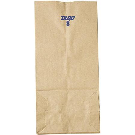 500 Base Unit - Kraft Gusset Fold Top Paper Bags, Brown, 500 Ct