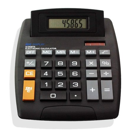 EC Easy-See Electronic Digital Calculator - Large Tilt Display - Big Buttons (Big Calculator Measures)
