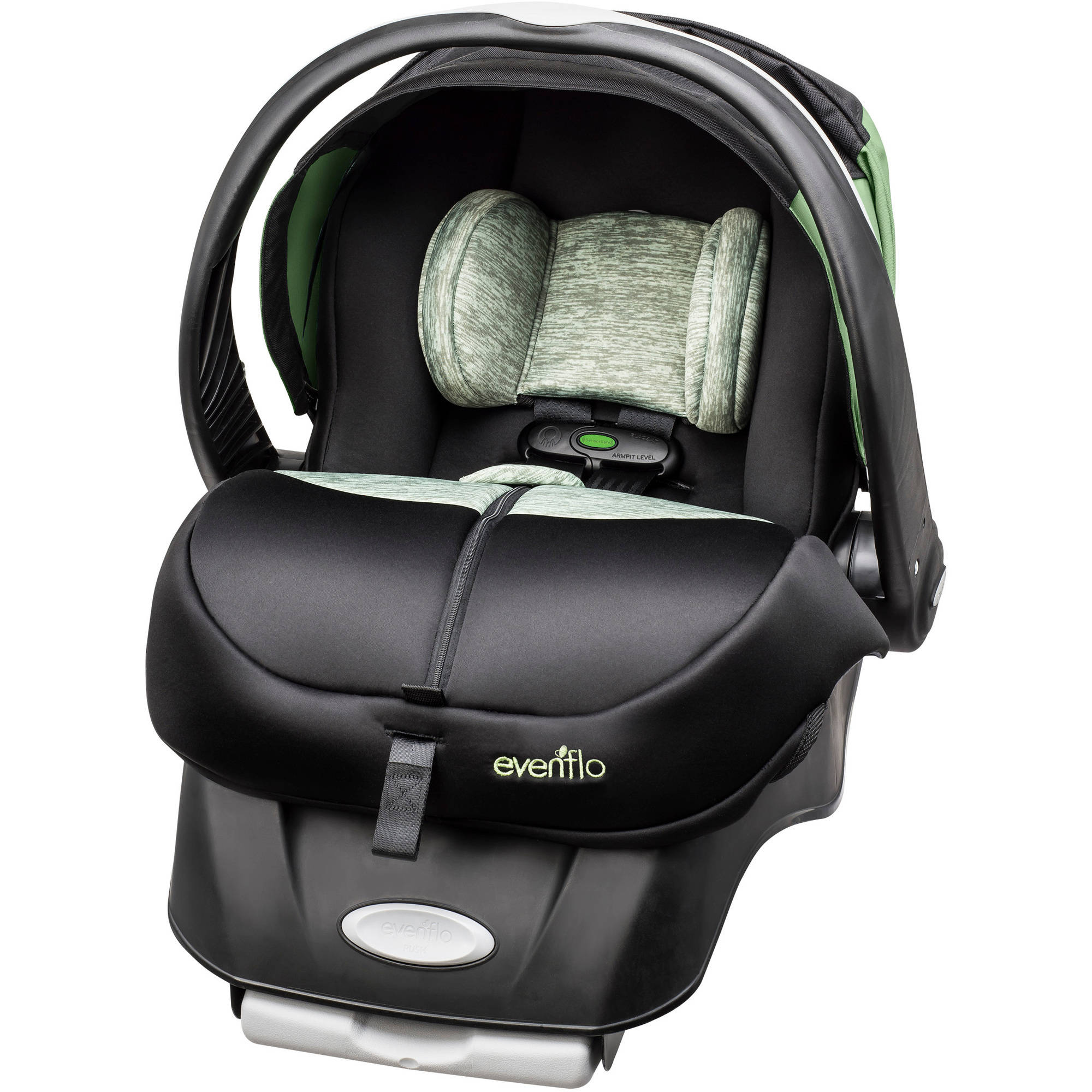 Evenflo Advanced Embrace DLX Infant Car Seat with SensorSafe, Peridot