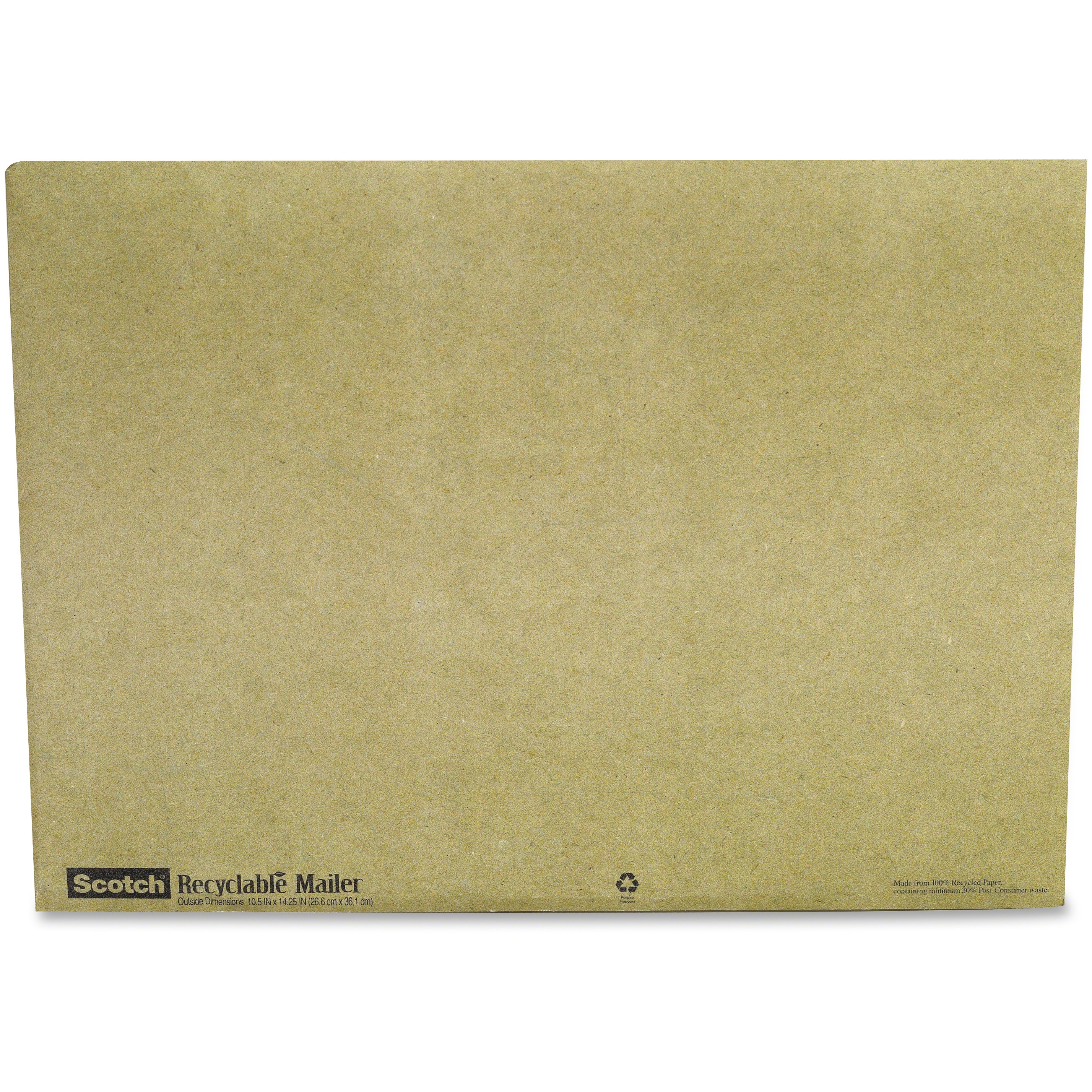 Scotch, MMM6915, Recyclable Padded Mailer, 10 / Pack, Green