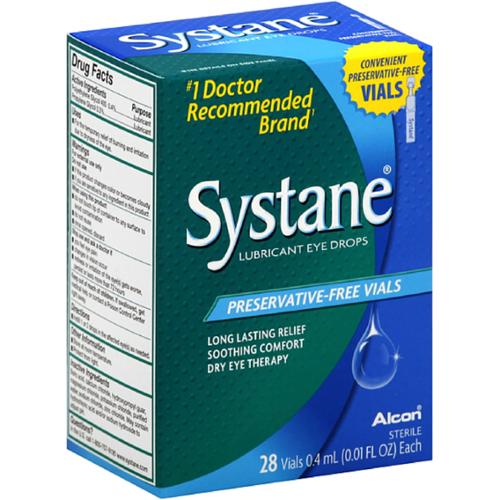 ALCON SYSTANE Preservative-Free Vials Dry Eye Lubricant Artificial Tears - 28ct