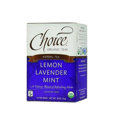 - Choice Organic Teas Lemon Lavender Mint Tea, 16 Count