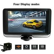 Podofo 360 Degree Panoramic Car DVR Camera Dual Lens with Rear View Cameras Full HD Video Recorder Car Camcorder Fisheye Lens Night Vision Dash Cam Blackbox Dvrs