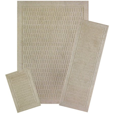 Mainstays Dylan Polyester Solid Pattern 3-Piece 7' x 10' Area Rug Set ()