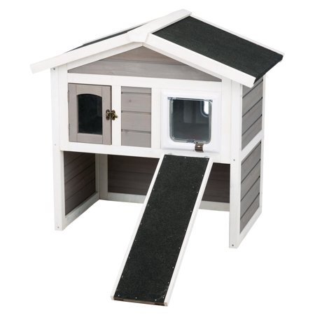 natura Insulated 2-Story Cat Home